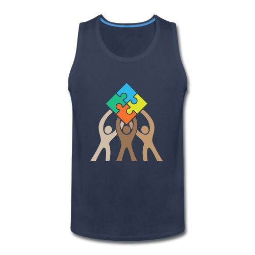 Teamwork and Unity Jigsaw Puzzle Logo - Men's Premium Tank