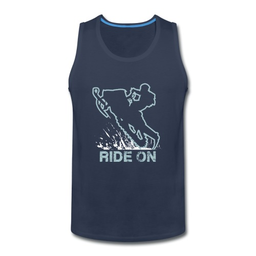 Snowmobile Ride On Sled - Men's Premium Tank