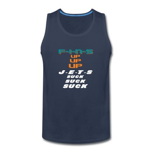 FINS UP JETS SUCK - Men's Premium Tank
