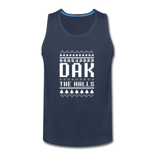 Dak The Halls Ugly Christmas Sweater - Men's Premium Tank