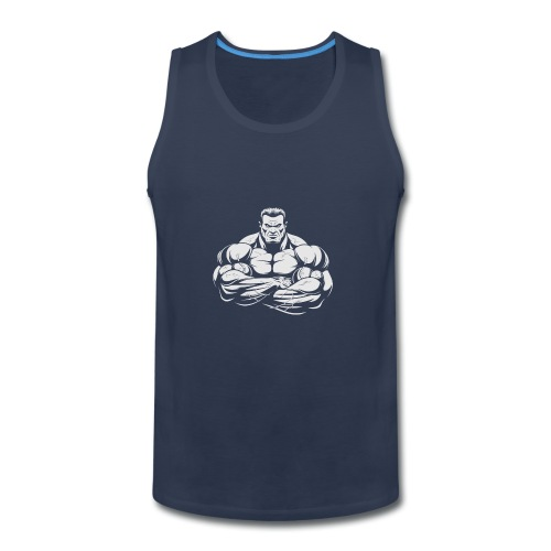 An Angry Bodybuilding Coach - Men's Premium Tank