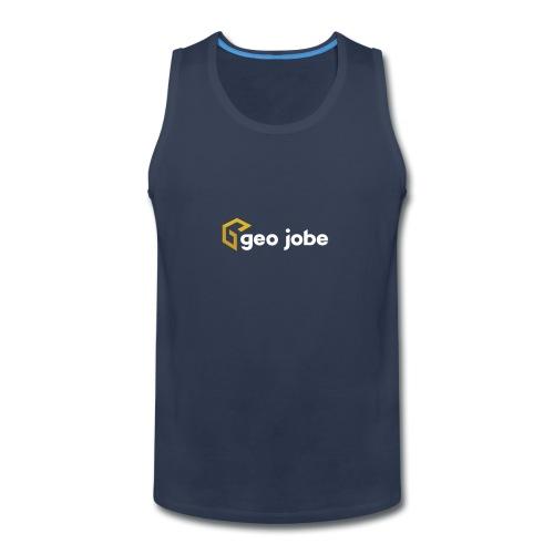 GEO Jobe Corp Logo White Text - Men's Premium Tank