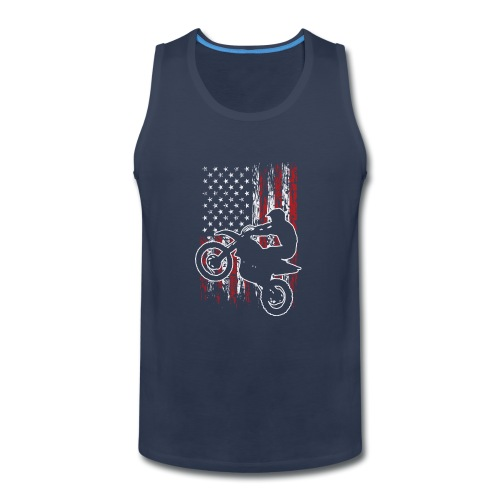 Motocross USA Stunt Biker - Men's Premium Tank