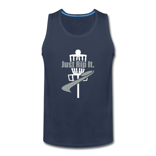 Just Rip It Disc Golf Basket - Men's Premium Tank
