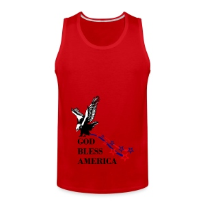 CUSTOM DESIGN GOD BLESS AMERICA - Men's Premium Tank