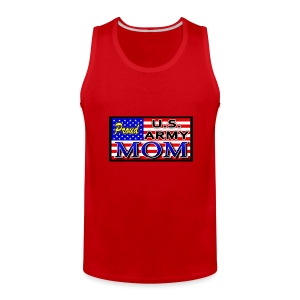Proud Army mom - Men's Premium Tank