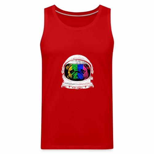 Astronaut Pug T-Shirt - Men's Premium Tank