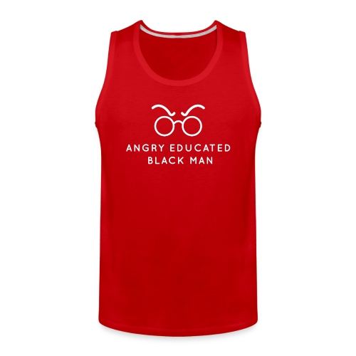Angry Educated Black Man Official Logo - Men's Premium Tank