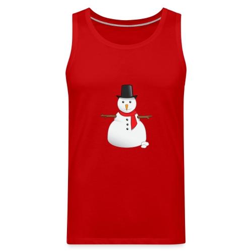 christmas-snowman-clipart-this-cute-snowman-clip-a - Men's Premium Tank