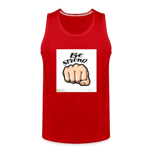 fist cartoon symbol be strong lettering vector ill - Men's Premium Tank