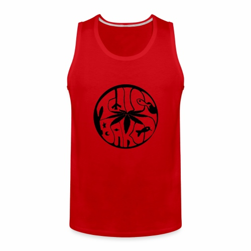 tWicEbakED logo, black circle - Men's Premium Tank