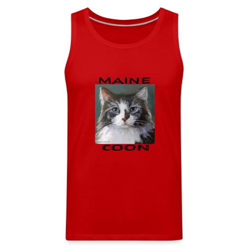 Maine Coon Cat - Men's Premium Tank