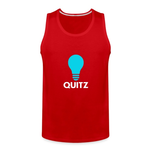 Quitz Blue w/ white text - Men's Premium Tank