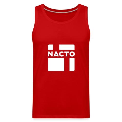 NACTO_logo_white - Men's Premium Tank