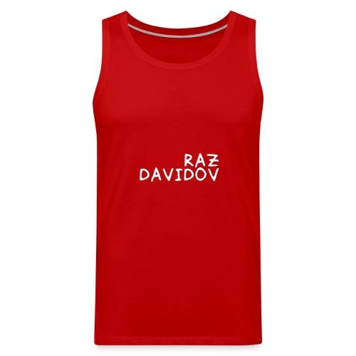 Raz Davidov Text - Men's Premium Tank