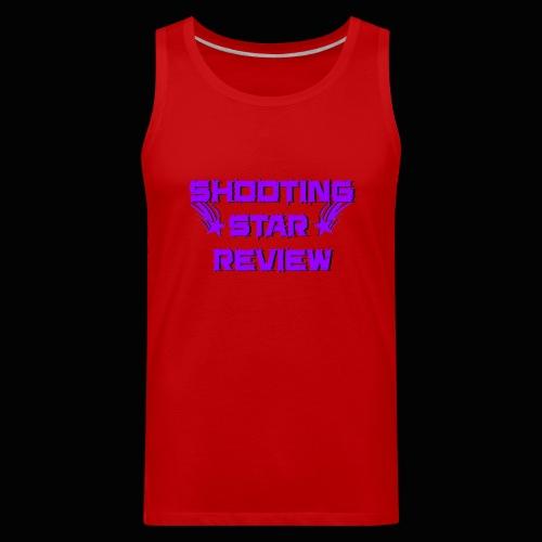 Shooting Star Review Purple Logo - Men's Premium Tank