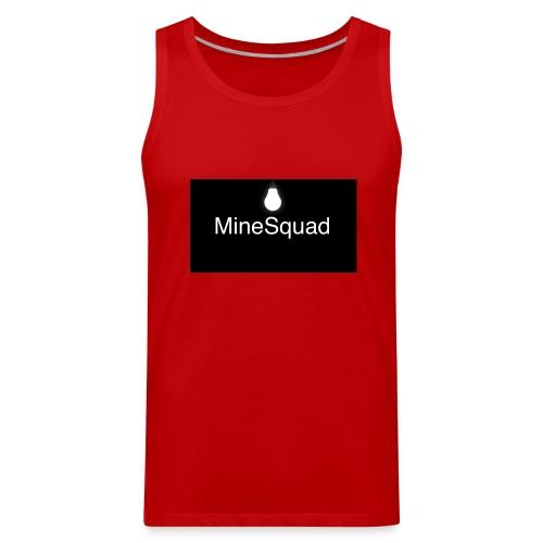 #MineSquad Thinking Logo - Men's Premium Tank