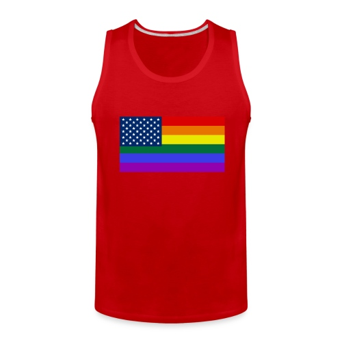 LGBT United States Flag - Men's Premium Tank