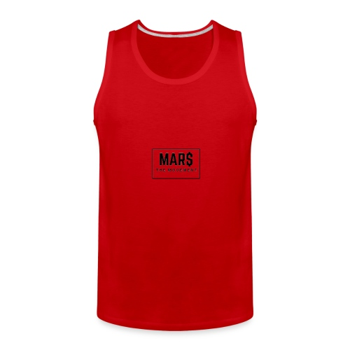 MAR$ Orginal White T-Shirt - Men's Premium Tank