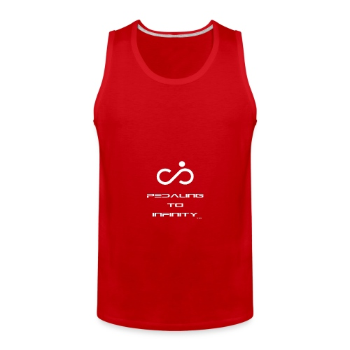 Infinite Hammer Pedaling To Infinity White - Men's Premium Tank