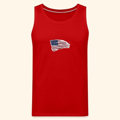 American Flag - Men's Premium Tank