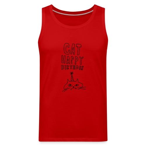 Cat Happy Birthday Collection - Men's Premium Tank