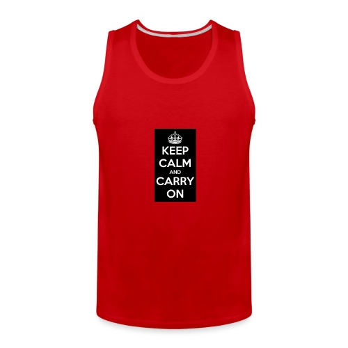 KEEP CALM AND SUB TO DIAMOND - Men's Premium Tank