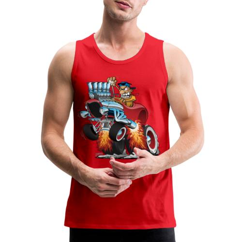 Highboy Hot Rod Race Car Cartoon - Men's Premium Tank