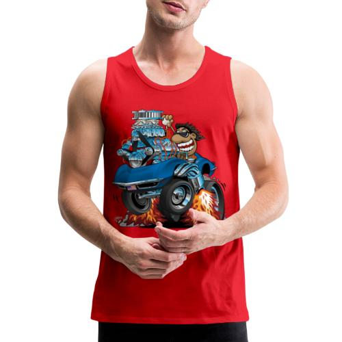 Classic '69 American Sports Car Cartoon - Men's Premium Tank