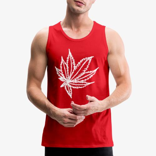 white leaf - Men's Premium Tank