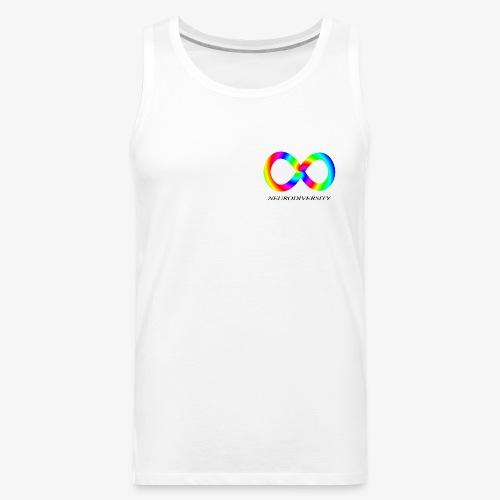 Neurodiversity with Rainbow swirl - Men's Premium Tank