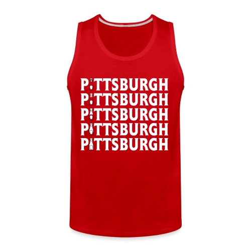 Ketch Up in PGH (Red) - Men's Premium Tank