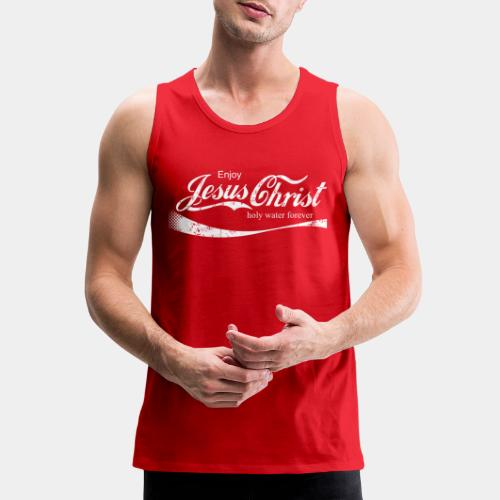 drink holy water christ - Men's Premium Tank