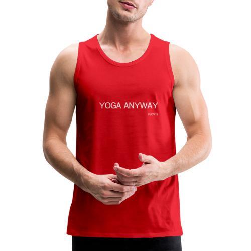 YOGA WHITE font - Men's Premium Tank