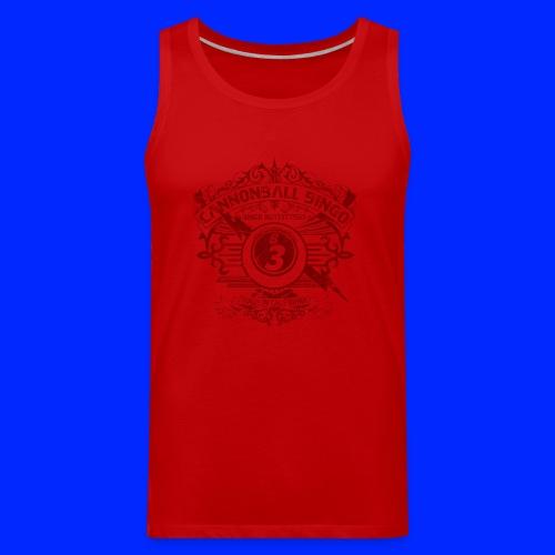 Vintage Cannonball Bingo Crest Dark Red - Men's Premium Tank