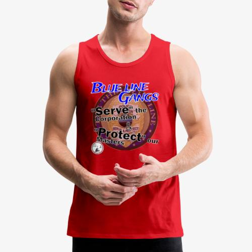 Thin Blue Line - To Serve and Protect - Men's Premium Tank