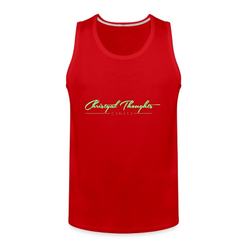 Christyal Thoughts C3N3T31 Lime png - Men's Premium Tank