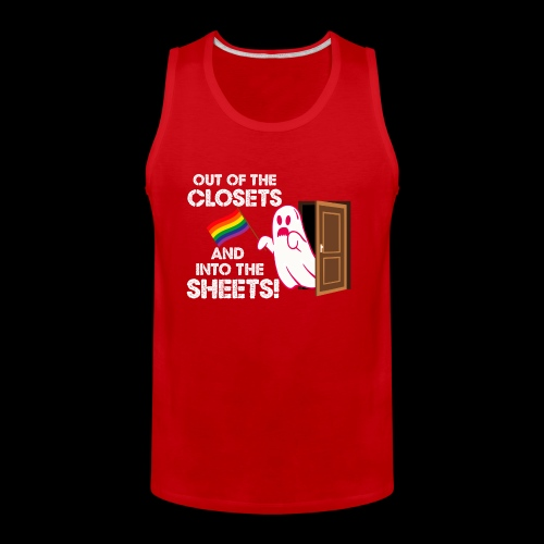 Out of the Closets Pride Ghost - Men's Premium Tank