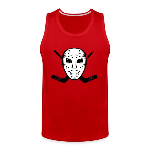 HOCKEY MASK STICKS ICE SKATE WINTER SPORTS FAN - Men's Premium Tank