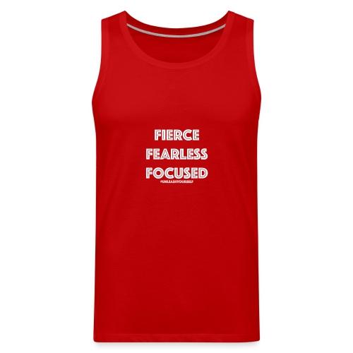 Fierce, Fearless, Focused Off The Shoulder Shirt - Men's Premium Tank