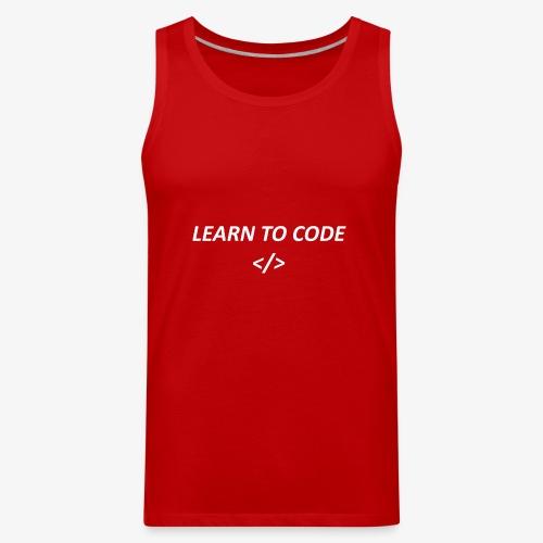 Learn to code - Men's Premium Tank