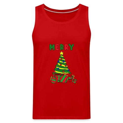 merry christmas tree instruments - Men's Premium Tank