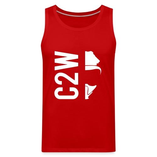C2W Split Logo - White - Premium Tee - Men's Premium Tank