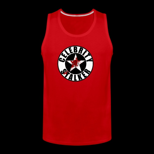 Celebrity Stalker Bloody Circle Logo - Men's Premium Tank