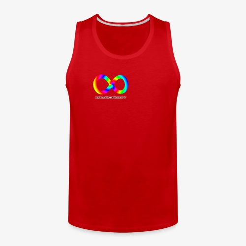 Neurodiversity with Rainbow swirl - Men's Premium Tank