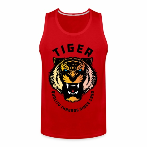 Wild tiger Face Animals Sticker - Men's Premium Tank