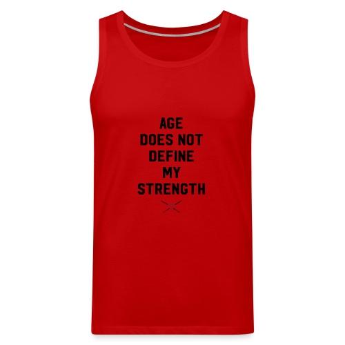 age strength black - Men's Premium Tank