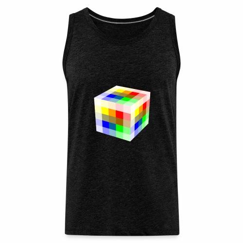 Multi Colored Cube - Men's Premium Tank