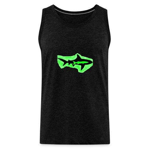 Green Glowing Barracuda Shark - Men's Premium Tank