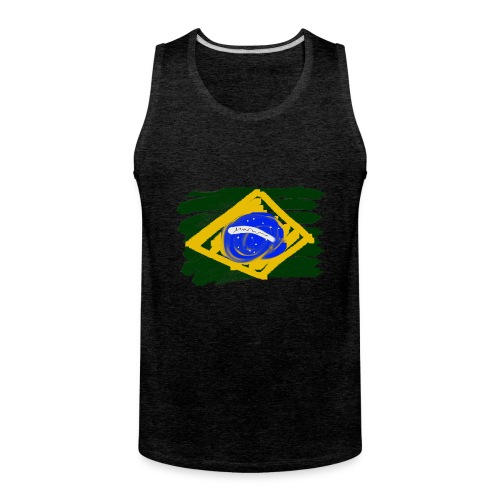 Brazilian Flag - Men's Premium Tank